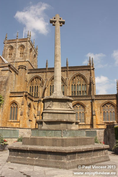 The Sherborne War Memorial was unveiled in 1921.