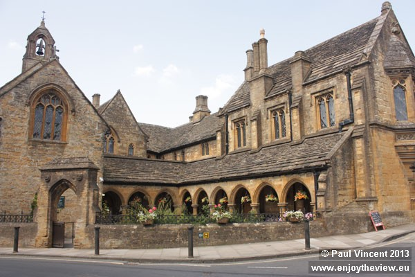 The almshouses were built between 1440 and 1445, and extended in 1864.