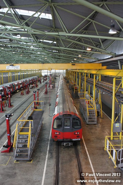 The Stratford Market London Underground depot is run by Tube Lines on behalf of TfL.