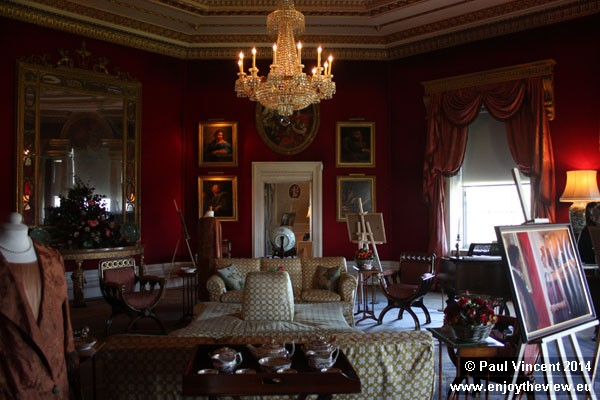 The Octagon Room was used as the Crawley's main drawing room in Downton Abbey.