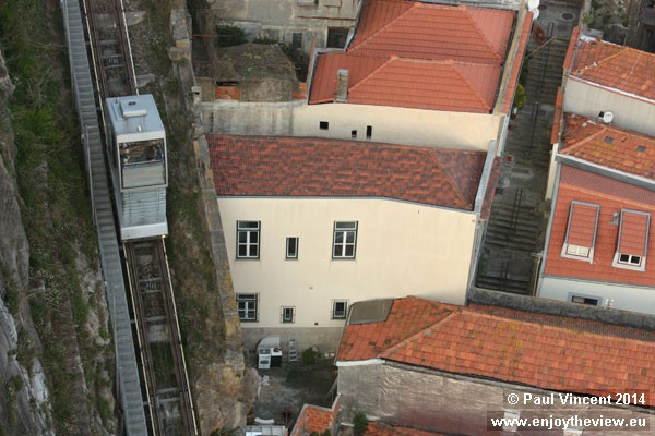 The funicular offers commuters and tourists an effortless way to climb the 61-meter rise.