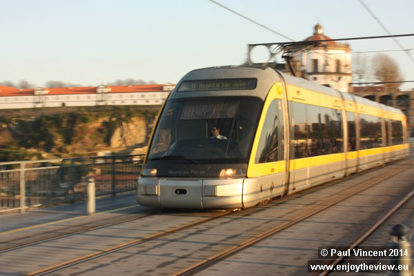 The Porto Metro uses modern Eurotram low-floor, articulated trams.