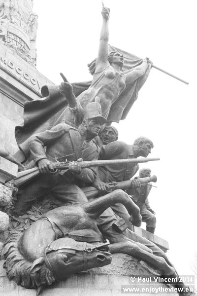 The monument celebrates the Portuguese and British victory against Napoleon in the Peninsula War.