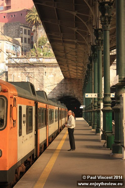 The trains are operated by Comboios de Portugal.