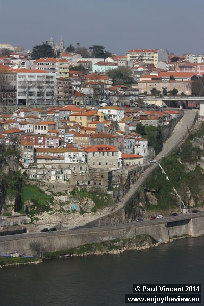 Very steep path on the northern bank of the Douro River.