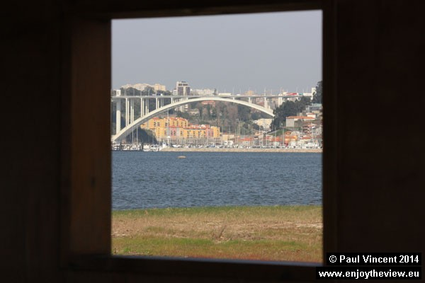 View towards Porto from the bird-watchers cabin.
