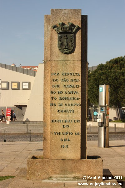 Monument in front of the Convent of Corpus Christi.