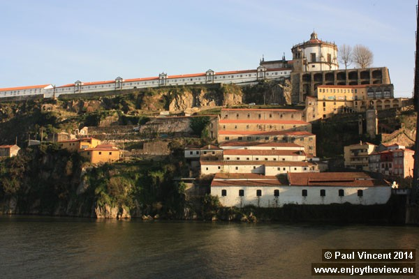 The Serra do Pilar Monastery stands above the port cellars of Gaia.