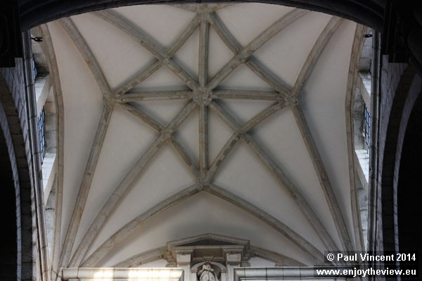 Ceiling of the cathedral.