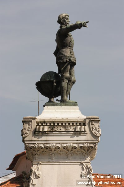 Statue of Prince Henry the Navigator, who led early efforts to explore trade with other continents.