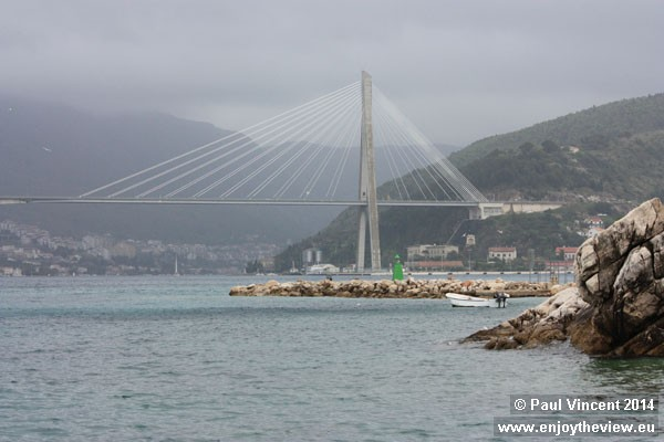The most expensive bridge in Croatia cost 252 million Croatian kuna and opened in 2002.