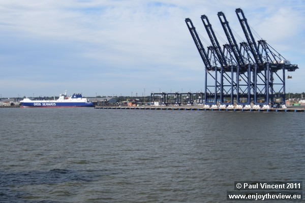 Another DFDS Seaways ship docked in Harwich.