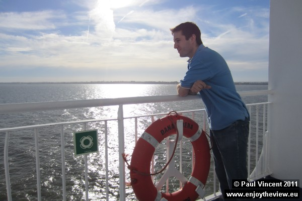 Paul on the DFDS Seaways ferry.