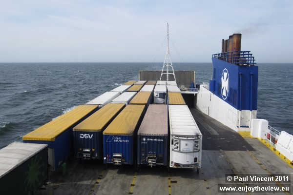 Containers on our ship.