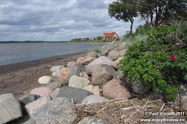 The seafront below the town of Roskilde.