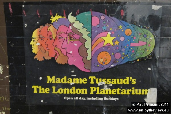 An advertisement for Madame Tussaud's.