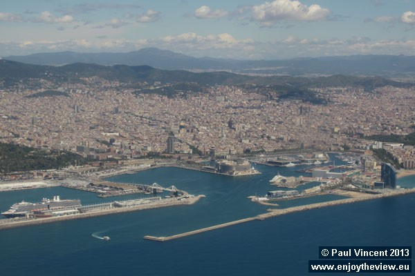 The Port of Barcelona is Spain's third-largest container port.