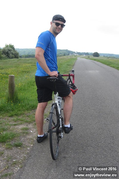 Farthing Downs lies within the London green belt and we cycle across it before reaching the M25.
