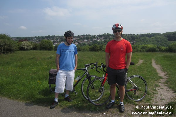 It's another glorious day as we cycle down to Newhaven for the second reconnaissance ride.