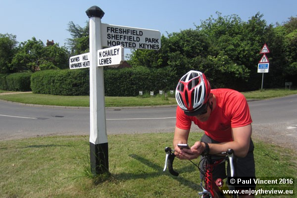 Despite having ridden the route last week, we still find ourselves checking the map.