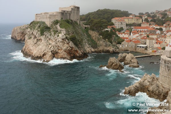 The fort is one of many Dubrovnik locations to feature in the Game of Thrones television series.