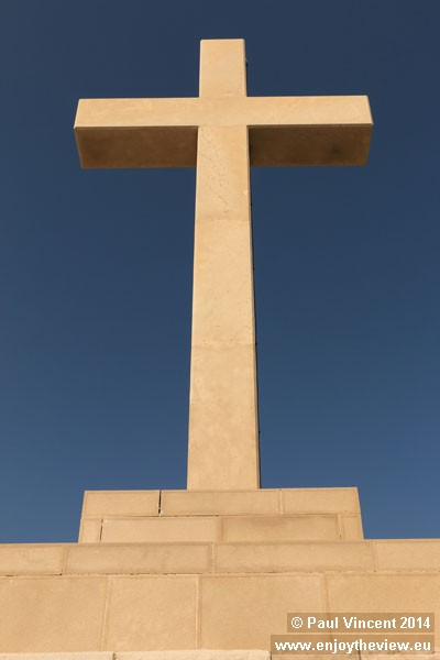 This White Cross has been rebuilt, following its destruction during the 1991-95 war.