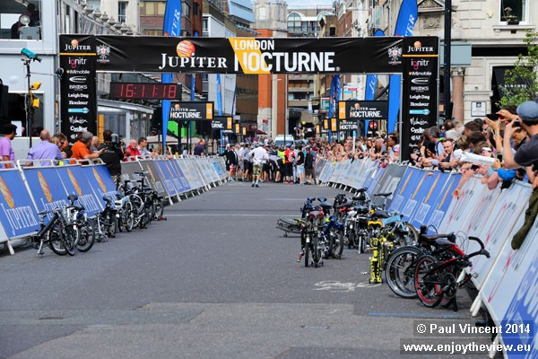 Bicycles must be fully folded prior to the start of the race.