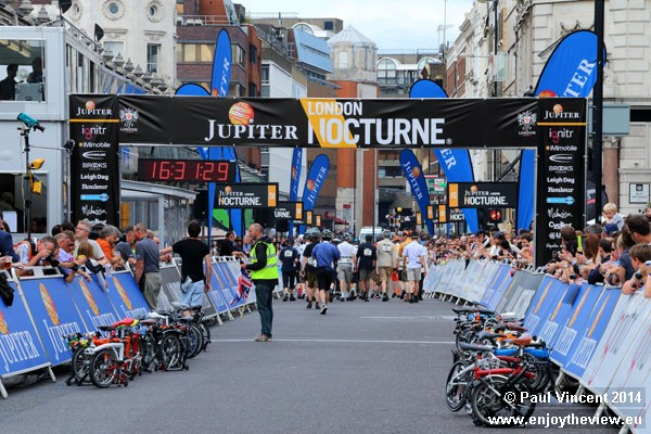 Entrants must make a short run to reach their bikes before unfolding them.