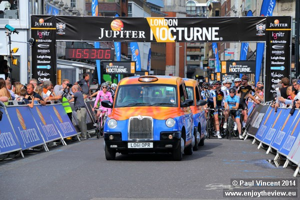 Lead vehicles take the shape of London black cabs.