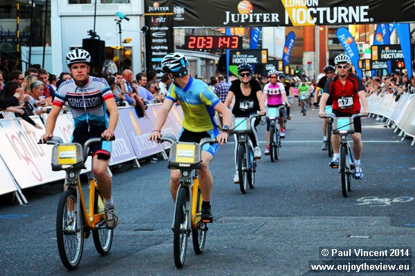 Thirty riders took part in the inaugural cycle hire race.