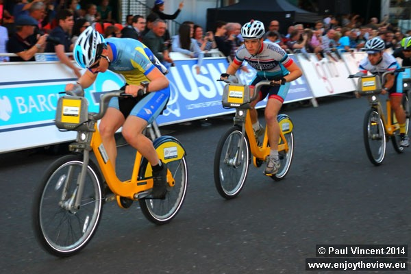 Some bikes have been painted yellow in honour of the upcoming Tour de France.