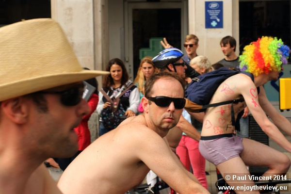 The WNBR is an annual ride which aims to 'deliver a cleaner, safer, body-positive world'.