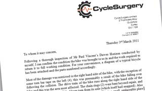 Letter from Cycle Surgery