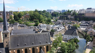 Panoramic view over Luxembourg